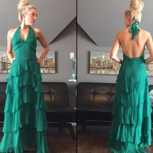 Hunter Green Formal Dress